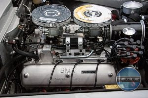 Detailed View of a BMW Engine.