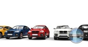 Lineup of Different Colored BMW SUVs.