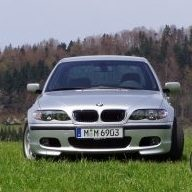 Silver BMW in Grass