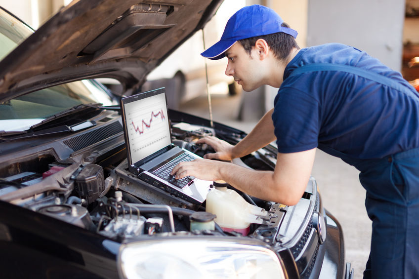 Running Diagnostic Test for Engine Repair