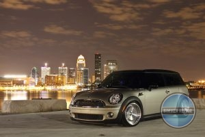 MINI Parked with City View